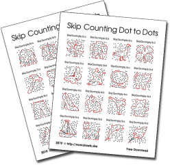 Connect The Dots: Practice Skip Counting By Fours!