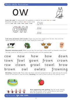 """""""Ow"""" Sounds Phonics: A Cow In The House!"""