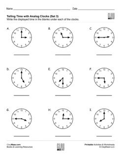 Telling Time: Practice Reading Clocks
