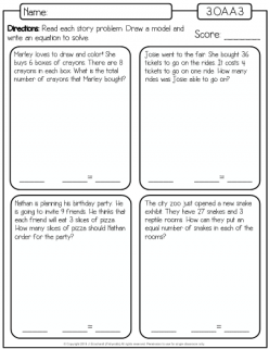 Multiplication Word Problems: Zoo
