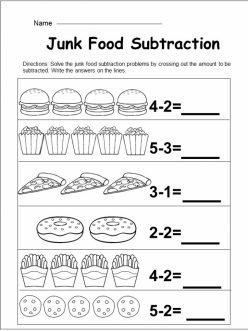Food Math: Subtraction Fun