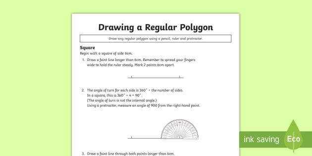 Year  Draw A Regular Polygon Worksheet  Worksheet