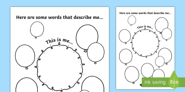 Adjectives To Describe Yourself Worksheets