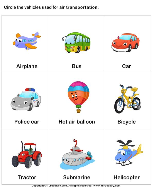 Air Transportation Worksheet