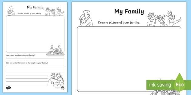 All About My Family Worksheet Teacher Made