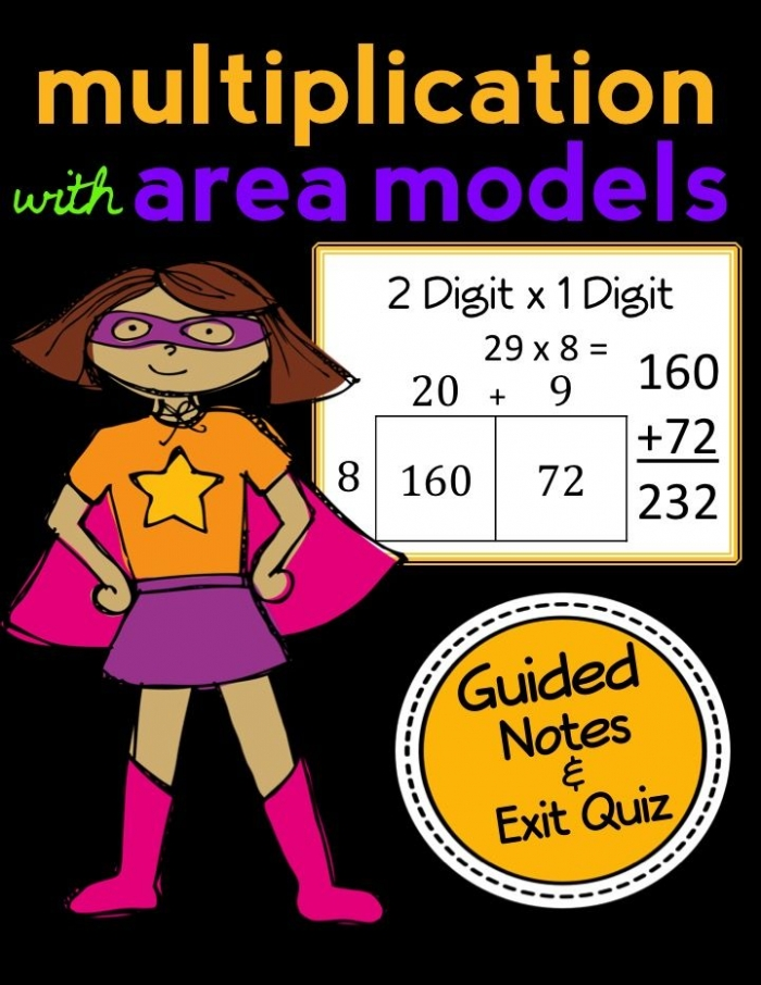 Area Model Multiplication  X  Digit  Complete Lesson Packet