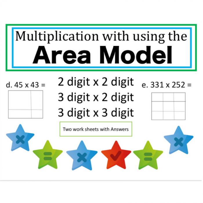 Area Model Multiplication Worksheet