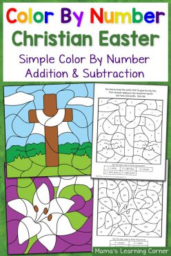 Easter Color By Number Page