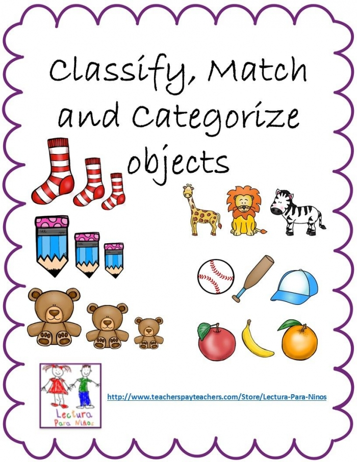 Classify  Match   Categorize Objects These Go Along With Eureka
