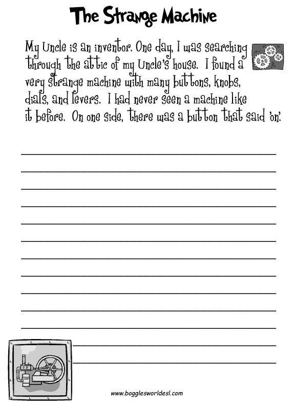 Creative Writing Exercise Worksheet