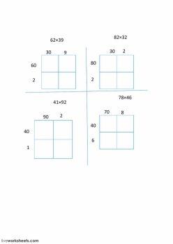 More Area Model Multiplication