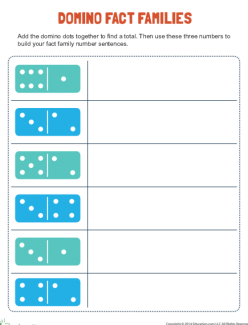 Domino Number Sentence