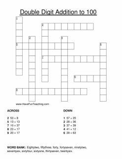 Addition Crossword