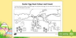 Color An Easter Egg Hunt