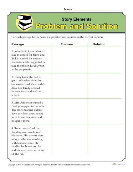 Elements Worksheet Problem And Solution Worksheets Easy Telling