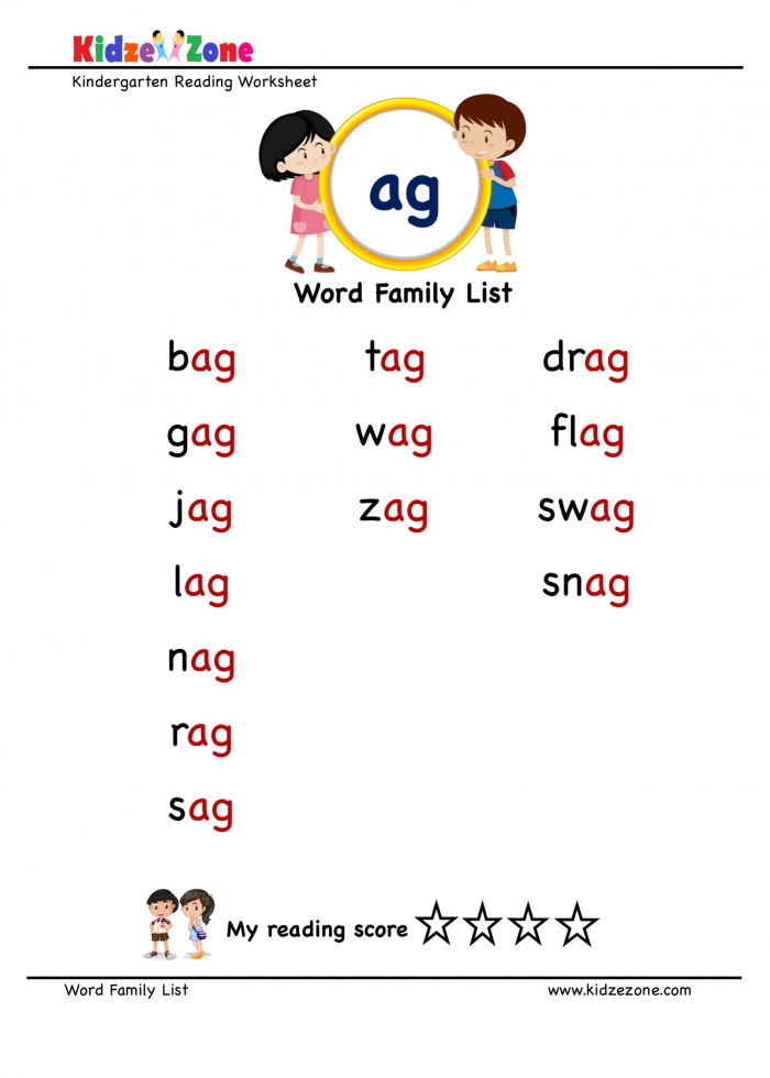 Explore And Learn Words From Ag Word Family With Word List Worksheet