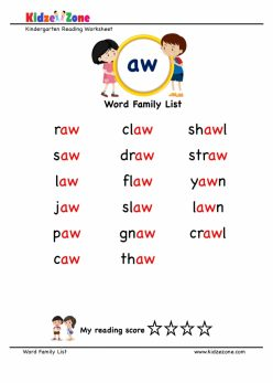 Read And Spell -And Family Words