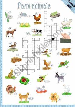 Picture Crossword: Farm Animals!