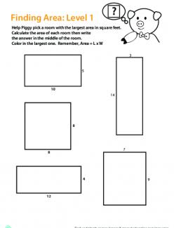 Area Of Rectangular Rooms
