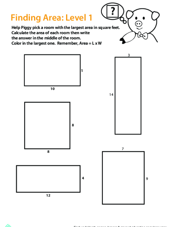 Finding The Area Of A Rectangle
