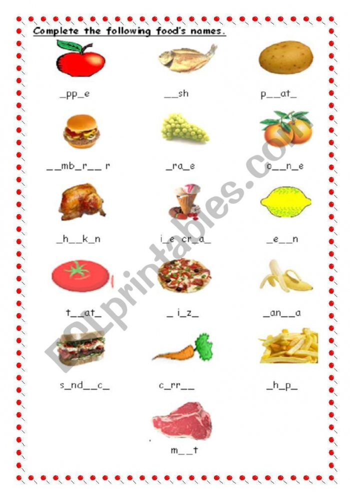 Food Spelling