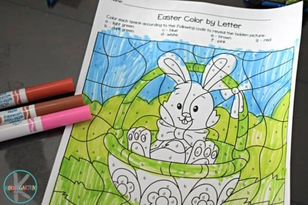 Free Easter Color By Letter