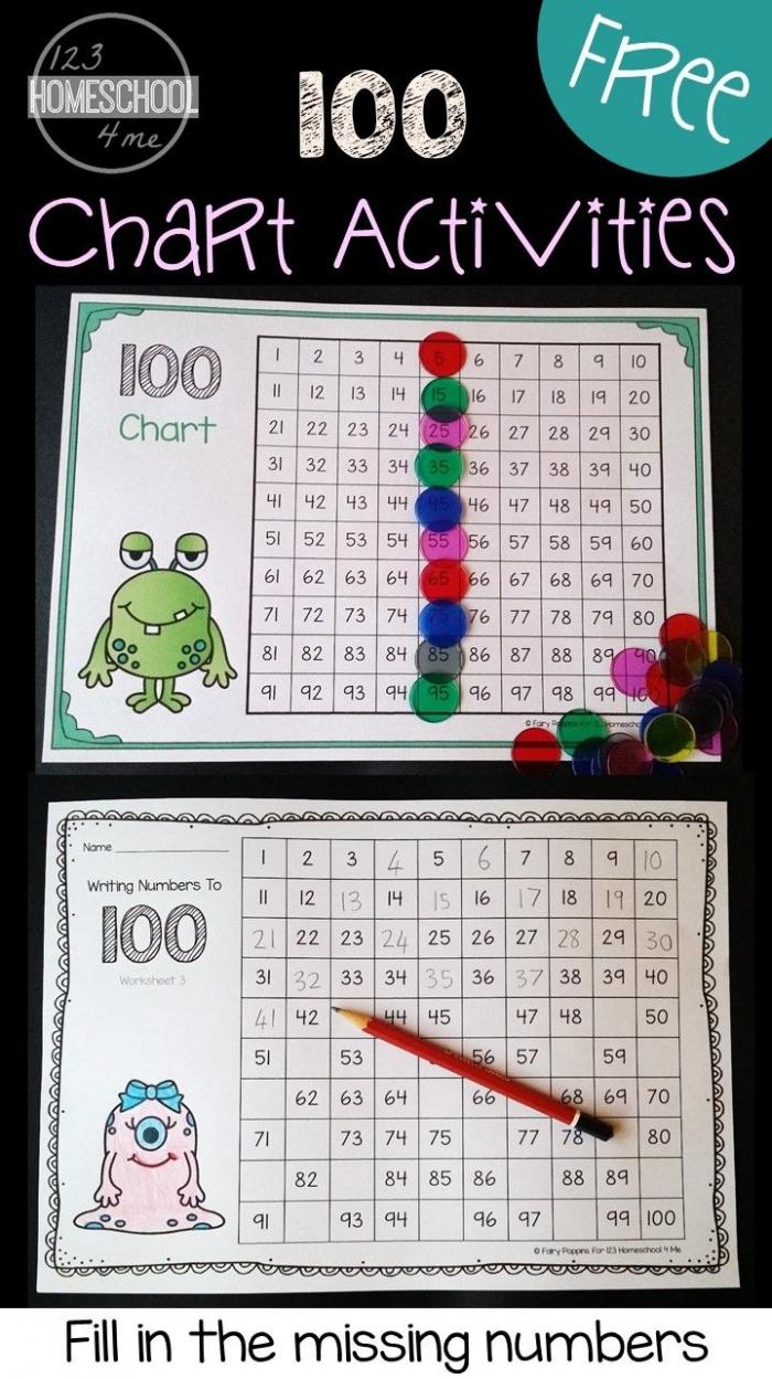 Free Hundreds Chart Printable