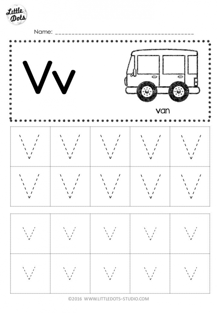Free Letter V Tracing Worksheets Outstanding Preschool Picture
