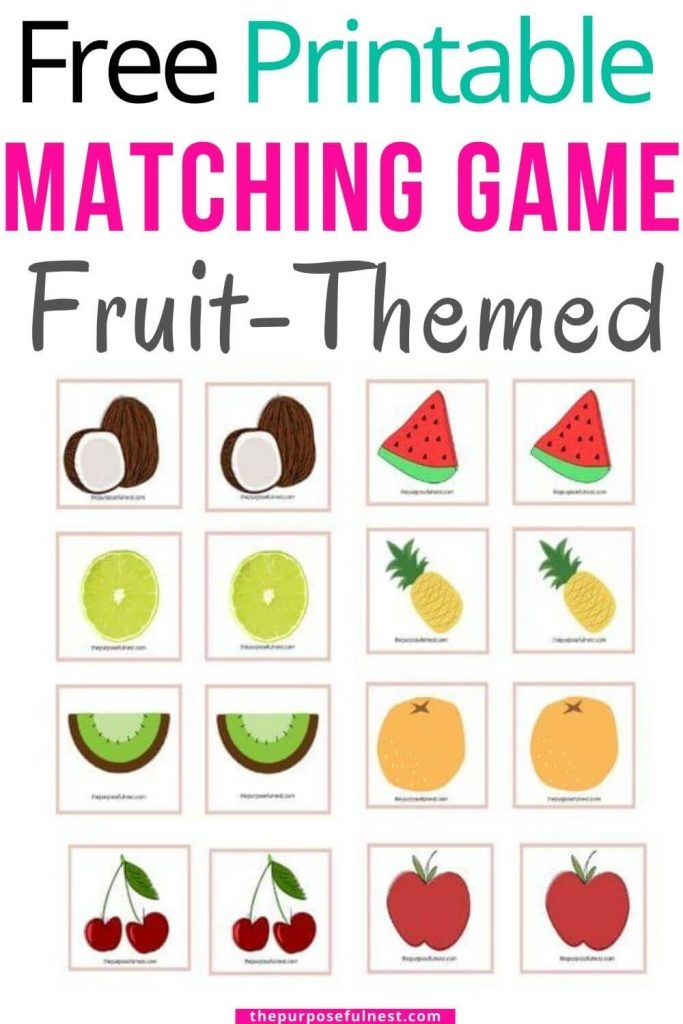 Free Printable Fruit Matching Game For Preschoolers