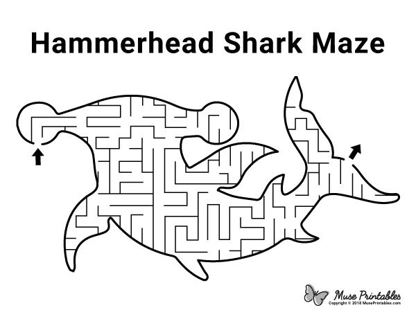 Free Printable Hammerhead Shark Maze Download It At Https