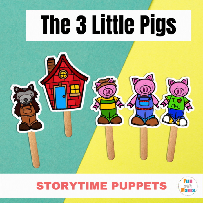Free Printable Stick Puppets The Three Little Pigs