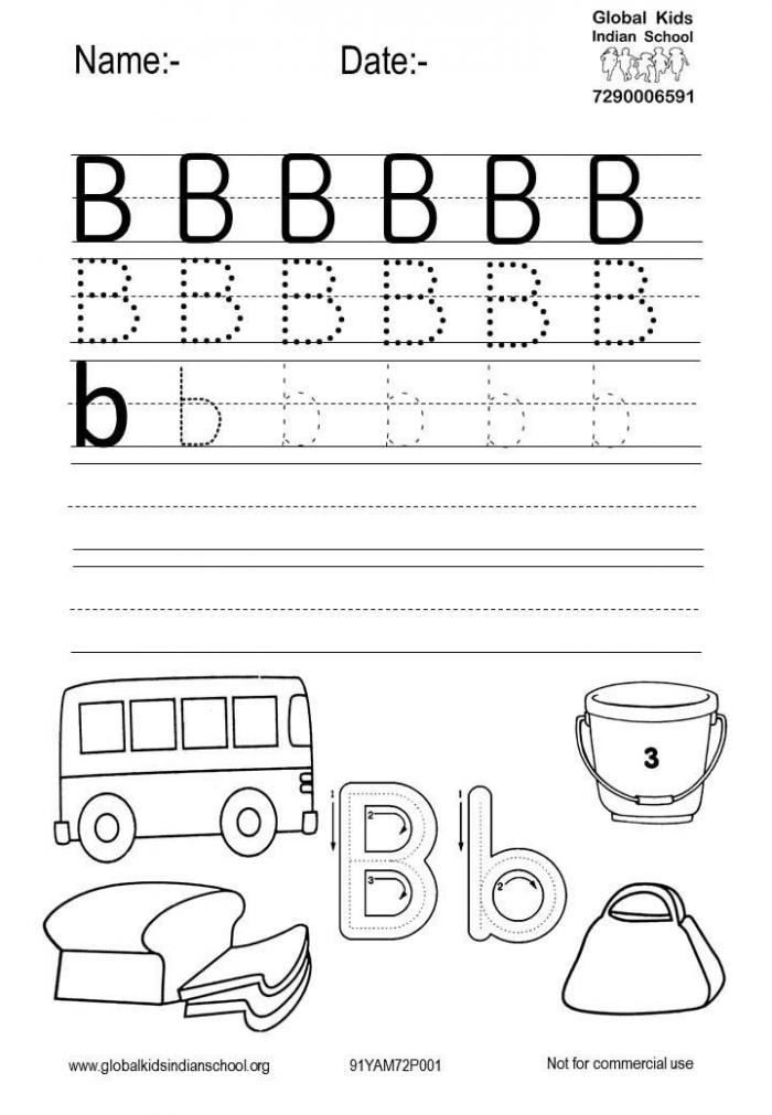Free Printable Worksheet Of Alphabet B