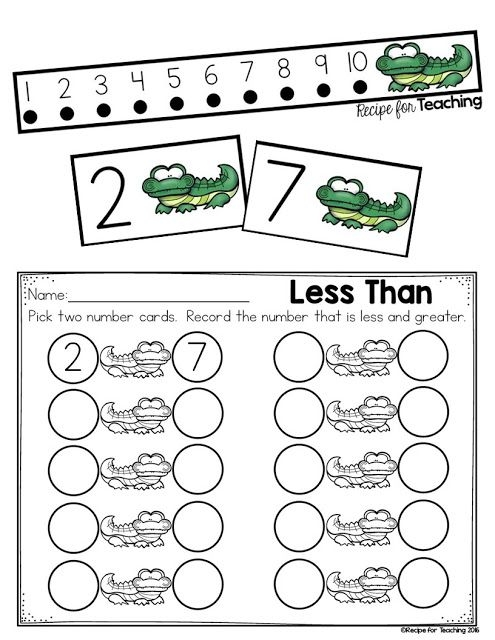 Greater Than And Less Than Alligator Math