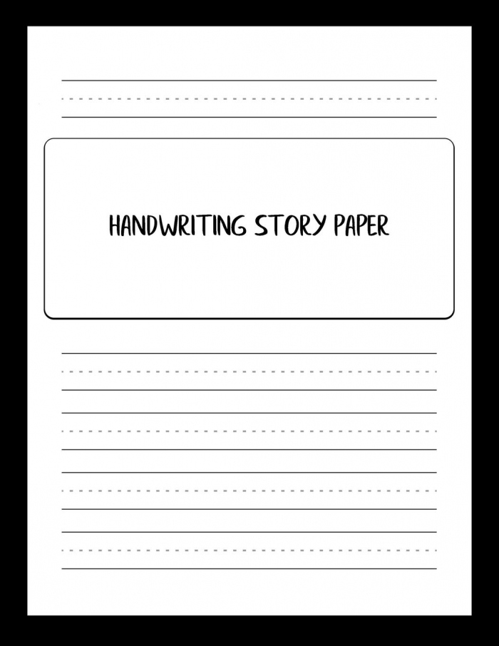 Handwriting Story Paper Writing And Sketching Worksheets To