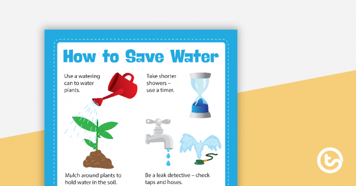 How To Save Water Poster Teaching Resource