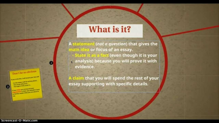 How To Write A Thesis Statement For An Analytical Essay