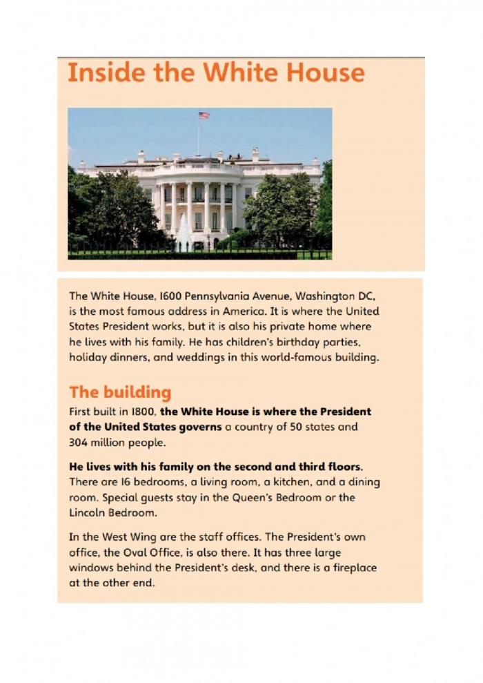 Inside The White House Worksheet
