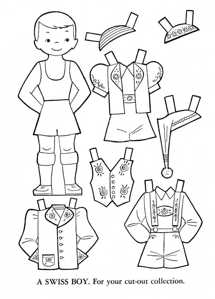 Italian Paper Doll Worksheets