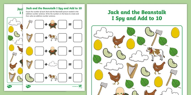 Jack And The Beanstalk I Spy And Add To
