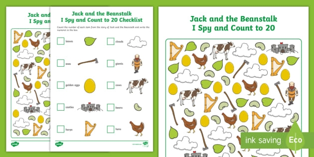 Jack And The Beanstalk I Spy And Count Activity To