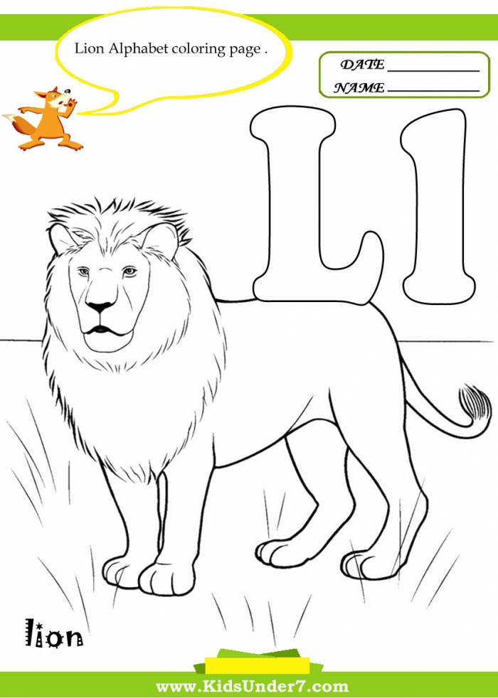 Kids Under  Letter L Worksheets And Coloring Pages