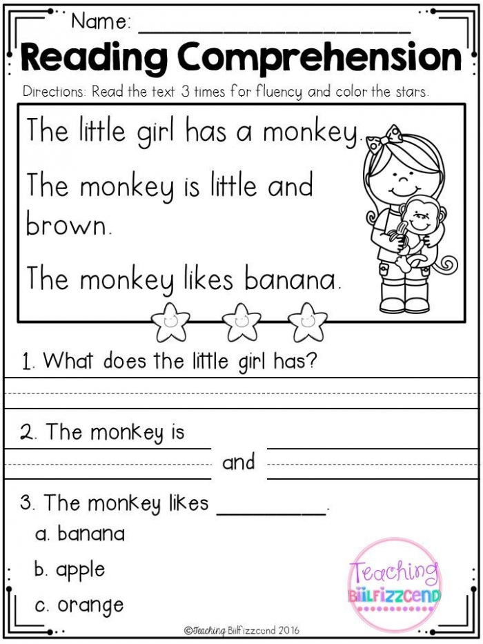 Kindergarten Reading Comprehension Set