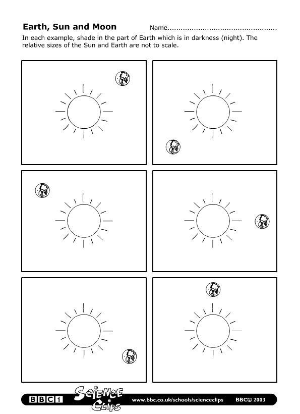 Learn About The Sun Worksheet