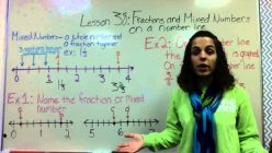 Adding Mixed Numbers And Improper Fractions On A Number Line