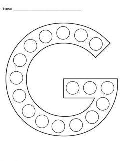 Dot-To-Dot Alphabet: G