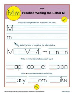 Writing The Letter M