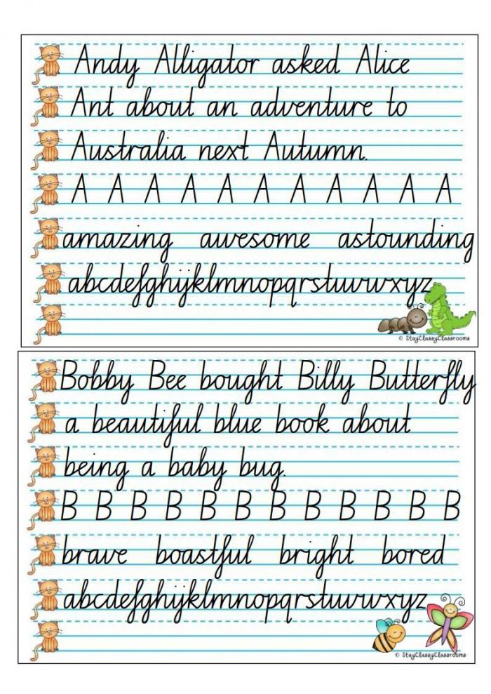 Math Worksheet  English Cursive Writing Worksheets Handwriting