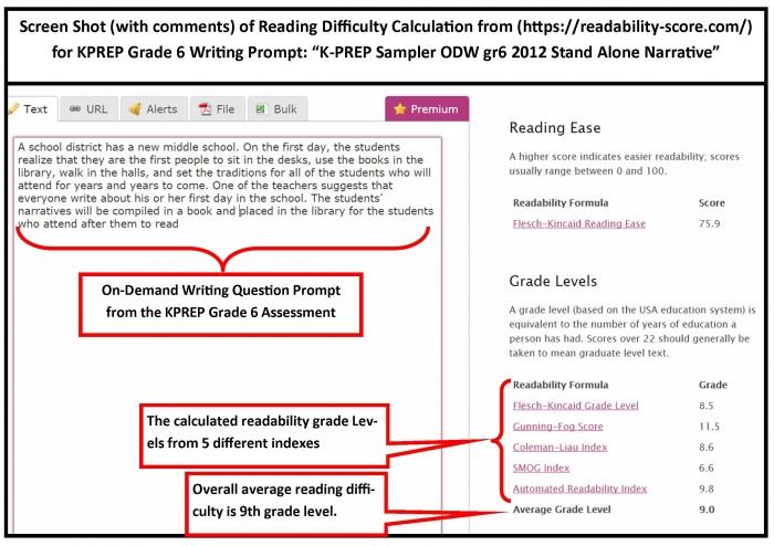 Math Worksheet  Grade On Demand Writingompt Readability Level