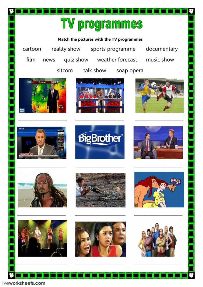 Media  Tv Programme Interactive And Downloadable Worksheet You