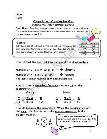 Observation Ready Worksheet Finding The Least Common Multiple